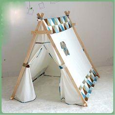Tienda Online Encantadora Navidad Presente niño Tienda Blanco tela tipi niños cama carpa interior para niños jugar casa   Aliexpress móvil