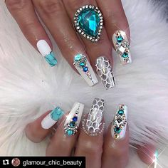 """903 Likes, 12 Comments - Dawn (@10_perfectnails) on Instagram: """"#Repost @glamour_chic_beauty with @repostapp ・・・ ✨ Mermaid Fantasy ✨  #glamourchicbeauty…"""""""