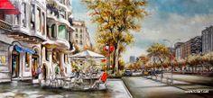 Cuadro del Paseo de Gracia in Barcelona (Spain) size 70x150 Tienda de cuadros modernos, decorativos para habitaciones TOTART carrer de sants, 3 totart.cat #cuadros #modernos #decorativos #habitación #barcelona