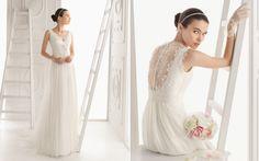 feuilletage decolleté, plissé poitrine, travail dentelle dos (en moins chargé) empire wedding dress - Recherche Google