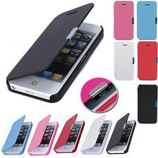 Magnetic Flip Leather Hard Wallet Case Cover For iPhone 5C 5S 5 6 Plus Screen