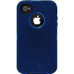 OtterBox Defender Series Hybrid Case & Holster for iPhone 4 & 4S � Retail Packaging � Ocean/Night Blue
