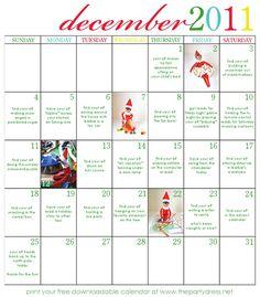 Elf on the Shelf Calendar ItsOverflowing Advent Ideas