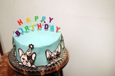 Elrod's: sending love from the west: French Bulldog Cake