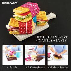 ¿Puedes creerlo? #Tupperware lo hace posible,prepara 4 #Waffles a la vez, obtén un delicioso desayuno en solo 3 pasos a tu familia le encantara.Pedidos: 833 2928319