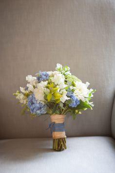 White Green & Purple Wedding Bouquet