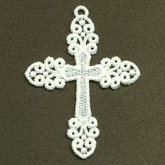 FSL Filigree Cross 3 - 4x4 | FSL - Freestanding Lace | Machine Embroidery Designs | SWAKembroidery.com Ace Points Embroidery