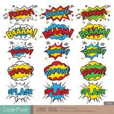 Cartoon Speech Bubble, Comic Bubble, Superhero Texts, Girl Superhero Party, Comic Book Characters, Comic Books, Pop Art Background, Comic Text, Graffiti Lettering Fonts