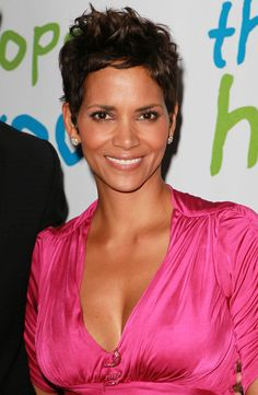 Halle Berry's classic pixie cut - the woman knows what style works for her