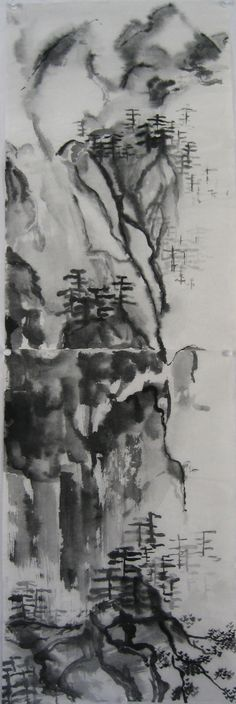 Sumi-E Painting, Black Ink on Paper, 2007