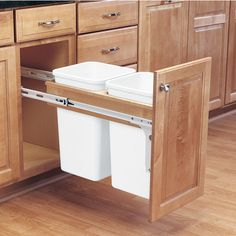 Rev-A-Shelf Double Pull-Out Waste Bins for Framed Cabinet - 27 ...