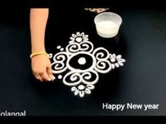 Simple , Easy and Quick freehand Rangoli designs with colours/ Rangoli Designs by Shital Daga Rangoli Designs Latest, Simple Rangoli Designs Images, Rangoli Designs Flower, Rangoli Border Designs, Rangoli Ideas, Rangoli Designs Diwali, Rangoli Designs With Dots, Beautiful Rangoli Designs, Flower Rangoli