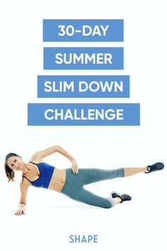 Needing the perfect challenge to get your body summer ready? on this fast workout plan and you'll be dying to wear that sundress, bikini, insert-anything-that-shows-off-your-body here. #30daychallenge #athomeworkouts