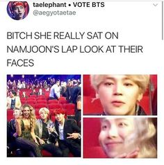 "BTSXAMA | I think she misheard DNA's lyrics as ""put your ass on me"" and took them too seriously"