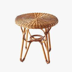 Bodega Round Rattan Side Table from Dear Keaton