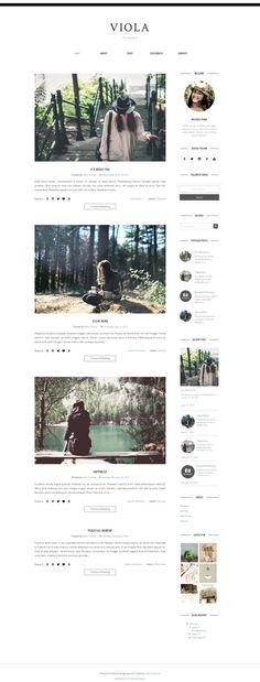 Blogger Template Responsive - VIOLA by Vefio Themes on @creativemarket