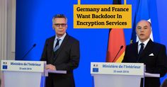 Germany and France declare War on Encryption to Fight Terrorism