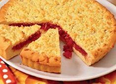 Песочный (тертый) пирог с вареньем