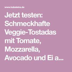 Jetzt testen: Schmeckhafte Veggie-Tostadas mit Tomate, Mozzarella, Avocado und Ei aus Rosins Restaurants