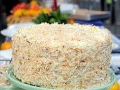 Emeril's Coconut Layer Cake with Coconut Cream Filling