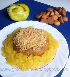 Pudin de galleta al microondas, receta casera