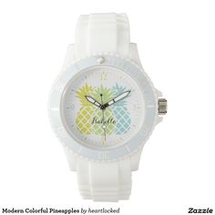Modern Colorful Pineapples Watches