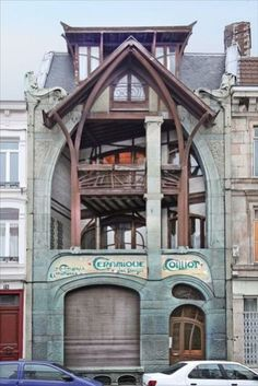 Art Nouveau - Maison d'Hector Guimard by Hector Guimard Lille, France Architecture Design, Architecture Art Nouveau, Beautiful Architecture, Beautiful Buildings, Building Architecture, Ancient Architecture, Art Nouveau Arquitectura, Design Art Nouveau, Art Nouveau Interior
