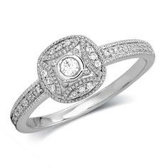 Zales 1/5 CT. T.w. Diamond Woven Promise Ring in Sterling Silver AJRu5kAK
