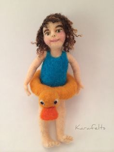 Abigail, a needle felted art doll