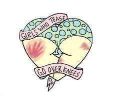 #cute #illustration #tattoo #booty #spank