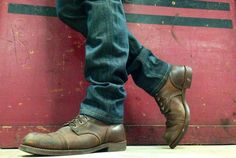 Red Wing Boots look good with a custom pair of our organic selvedge denim jeans