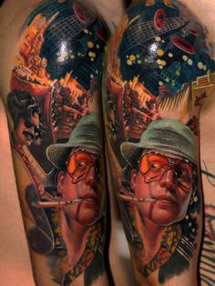 Fear and loathing in Las Vegas tattoo sleeve