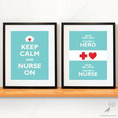 Set of 2 / Nurse gift Nursing Student gift Nurse by WordBirdShop, $20.00