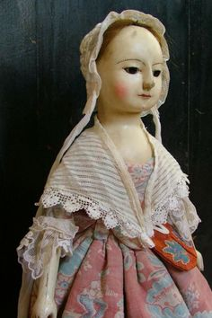 "Reproduction English Wooden Queen Anne Dolls and Izannah Walker Dolls : ""Alexandra and her garters"", My New Wooden Queen A..."