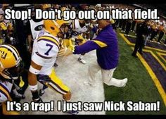 You better fear Nick Saban! Check out scores and stats plus sports analysis of… Roll Tide Football, Crimson Tide Football, Alabama Crimson Tide, Alabama Vs, Alabama Football Funny, Football Jokes, College Football, American Football, Football Team