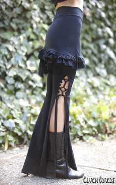 Tassel Lace Up Dance Pants - in Black or Brown - you choose your color strings. $86.00, via Etsy.