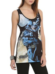 DC Comics Batman Catwoman Kiss Girls Tank Top | Hot Topic: I want this when it's back in stock