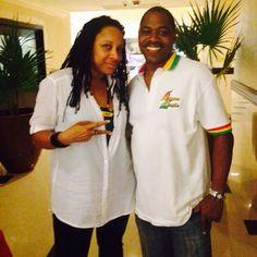 Radio Presenter / Photographer Steve James & Music Media Management @ International Reggae Day Press Conference - Pegasus Hotel Kingston Jamaica July 2015 ... #medianet55