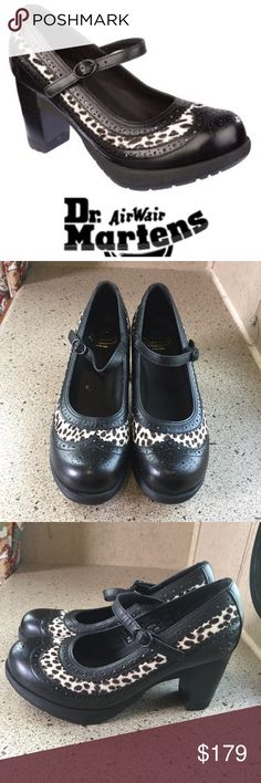"""DR MARTENS Orla Sz 8 Black  pony hair brogue Shoes Fabulous DR MARTENS Orla black pony hair brogue detail leather shoes Size 8. Extremely Rare and almost impossible to find. Please view all pictures before making a purchase. Excellent pre-owned condition, no flaws.  Measurements  Size: 8 M  Length of Shoe (sole top to bottom): 9 5/8""""  Width of Shoe (sole widest point on sole): 3 5/8"""" Dr. Martens Shoes Heels"""