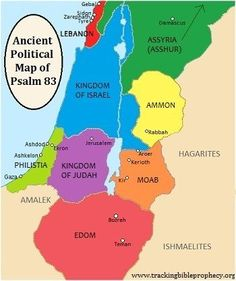 middle east Ancient Political Map of Psalm 83 Psalm 83, Bible Mapping, 12 Tribes Of Israel, Old Testament, Historical Maps, Bible Verses, Bible Psalms, Scriptures, Studyblr