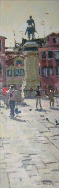 San Giovanni e Paolo, Venice - Ken Howard RA, NEAC - Island Fine Arts