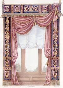 Apartment Curtains, Drapes Curtains, Curtain Styles, Curtain Designs, Window Coverings, Window Treatments, Victorian Curtains, Rideaux Design, Classic Curtains