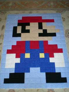 Mario quilt @Patty Swanson and @Heidi McCoy