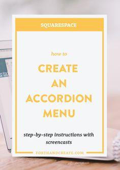 Create an accordion menu in SquareSpace (custom coding tutorial)