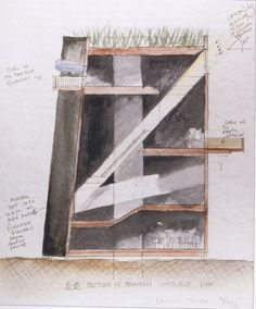 Gallery of Knut Hamsun Center / Steven Holl Architects - 33 Steven Holl, Alvar Aalto, Peter Zumthor, Architecture Drawings, Urban Architecture, Concept Architecture, Ancient Architecture, Sustainable Architecture, Concept Diagram