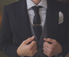 Love that little hammer touch on the tie pin! -A  Photo by Love +Perry Photography via Equally Wed