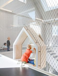 Children's drawings inspire COBE's kindergarten in Copenhagen Kindergarten Interior, Kindergarten Design, Design Maternelle, Playground Design, Kids Zone, Modern Kids, Cafe Interior, Kid Spaces, Play Spaces