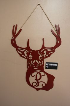 Hey, I found this really awesome Etsy listing at https://www.etsy.com/listing/211471730/metal-monogram-deer-door-hanger