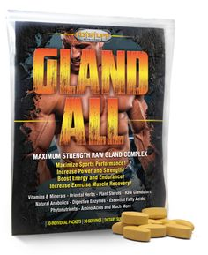 Hot Stuff Gland All Raw Gland Complex - 30 Packets Plant Sterols, Increase Muscle Mass, Hard Workout, Essential Fatty Acids, Vitamins And Minerals, 30 Day, Herbs, Strength, Hot