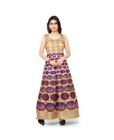 e106b5ce64 Pure Bhagalpuri Digital Print Anarkali Semi Stitched Gown  gown  ethnicwear   womengown Buy Gowns
